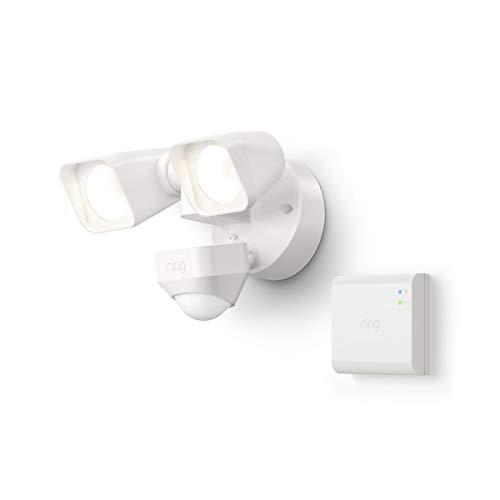 Ring Smart Lighting – Floodlight, Wired, Outdoor Motion-Sensor Security Light, White (Starter Kit)