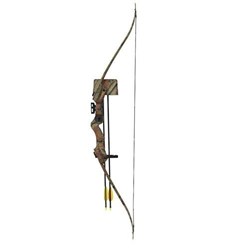 Hellbow Recurve-Bogen-Set 20 lbs und 85 fps für Rechtshänder, Schwarze Farbe, EIN ideales Set für den Jungen Schützen