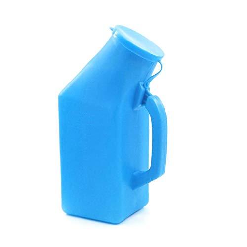 Botellas Portátiles Masculinos Urinario Pee Botella De Orina Inicio Urinario IR Al Baño Grueso Firme con Tapa para Artículos Men 1l Azul Personales