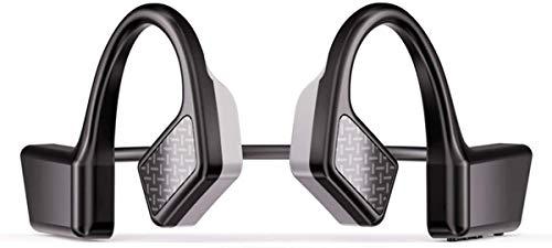 Słuchawki Bluetooth 5.0 przewodnictwo kostne z mikrofonem, otwarte ucho bezprzewodowe przewodnictwo kostne słuchawki odporne na pot, słuchawki stereo nauszne do joggingu biegania jazdy na rowerze domu biura
