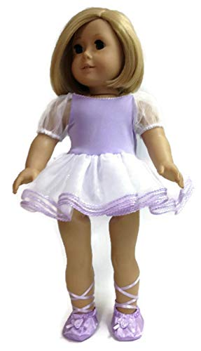 Lavender Ballerina and Slippers for 18 inch American Girl Doll Clothes