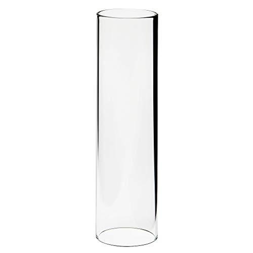 Glaszylinder transparent, Höhe 150 mm, Durchmesser 40 mm, für Petroleumlampe Cabinlite und andere Lampen