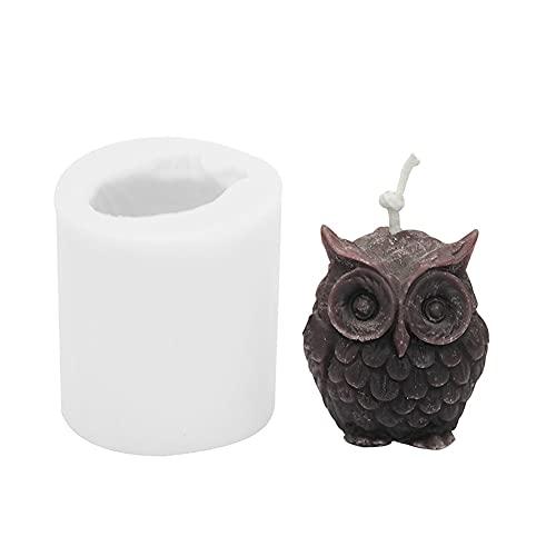 Silicone candle molds Molde de silicona Molde de la vela del búho 3D para la fabricación de velas DIY Moldes de resina hechos a mano para el yeso Molde de jabón de cera de aroma de soja Molde velas