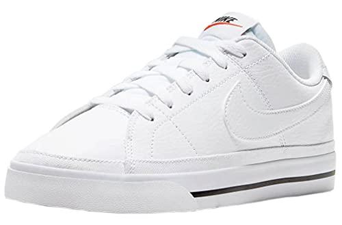 Nike Court Legacy, Zapatos de Tenis Mujer, White Pure Violet Black Team Orange, 39 EU