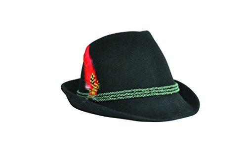 Modischer Trachtenhut mit hübscher Feder. Fesch für die Dame zum Dirndl und zünftig für den Herrn zur Lederhose, Gr. 55-60, in den 7 aktuellen Trendfarben