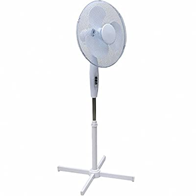 Generic Electrical 16-Inch Oscillating Pedestal Stand Fan, White