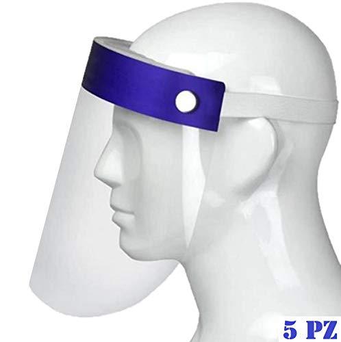 STEELMATES Visera protectora transparente para rostro Shield/Máscara facial de plástico/Fogclip máscara/viseras protectoras sin gafas no abatible/Máscara protectora para niños (5 unidades)