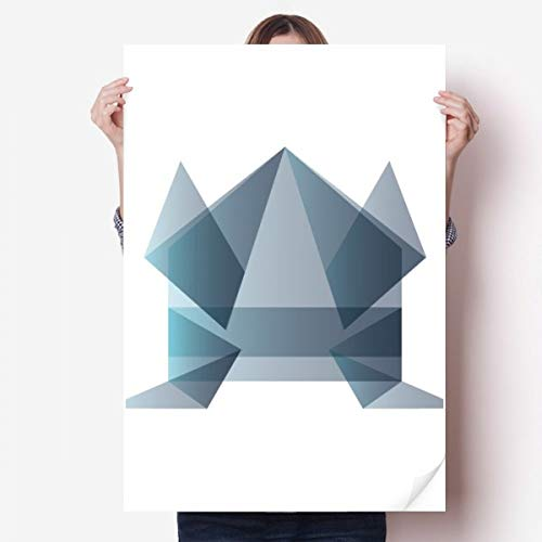 DIYthinker Rana Origami Abstracto Forma geométrica Vinilo Etiqueta de la Pared del Cartel Mural del Papel Pintado de la Etiqueta de Habitaciones 80X55Cm 80cm x 55cm
