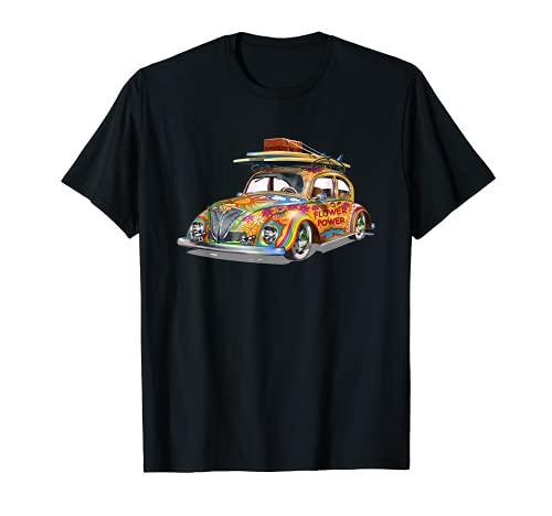 Coche hippie retro vintage Camiseta