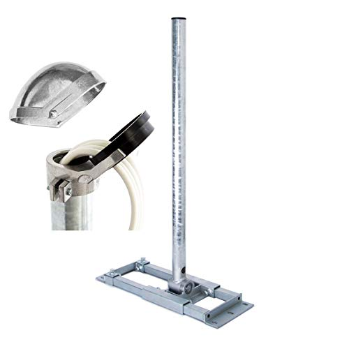 PremiumX Deluxe X130-48 Dachsparrenhalter 130 cm Mast Ø 48 mm SAT Dach-Sparren-Halterung inkl. ALU-Mastkappe mit Kabel-Durchführung