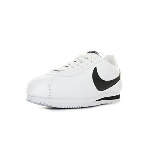 Nike Classic Cortez Leather, Zapatillas de Running Hombre, Blanco / Negro (White / Black), 43
