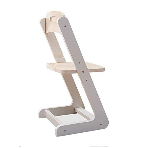 ZHAJIAN Einfache Möbel- Stühle Kinderstudie, verstellbar in Höhe, Möbel Massivholz Kiefer, Computer-Schreibtisch, Home Office-Tabelle (Farbe: Stuhl 38 * 36 * 75cm) (Color : Chair 38 * 36 * 75cm)