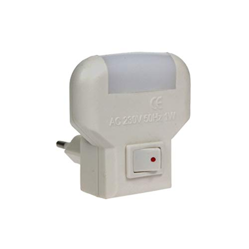 kippen 1430 - Punto de luz nocturna con interruptor ON/OFF, blanco