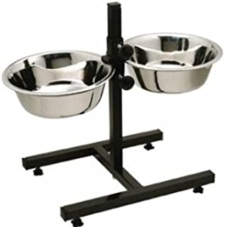 Pet Believe Stainless Steel Double Diner Food Bowl Stand for Dog (Large).