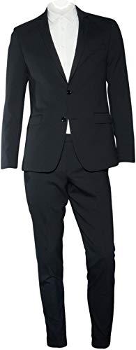 Bruuns Bazaar Herren Anzug Adams strukturiert in Schwarz 48 / M