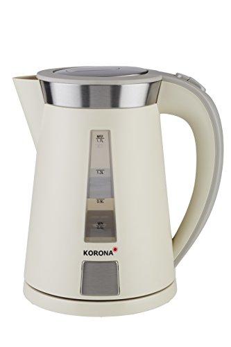 Korona 20205 Wasserkocher | leistungsstarker Kocher mit einer 360° Basisstation | 2200 Watt | 1.7 liters | beige | sand-grau