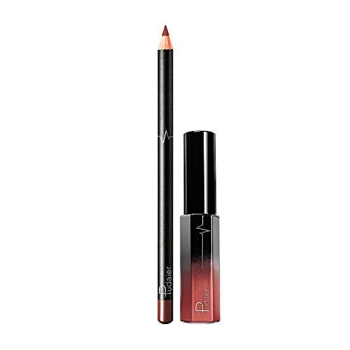 JUTOO 36 color lip lip set delineador de labiosLong Last Lápiz labial Impermeable Mate Líquido Brillante Perfilador de labios Perfilador de cosméticos Set