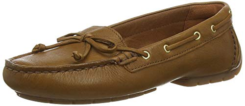 Clarks Damen Mokassin, Braun (Tan Leather Tan Leather), 39.5 EU