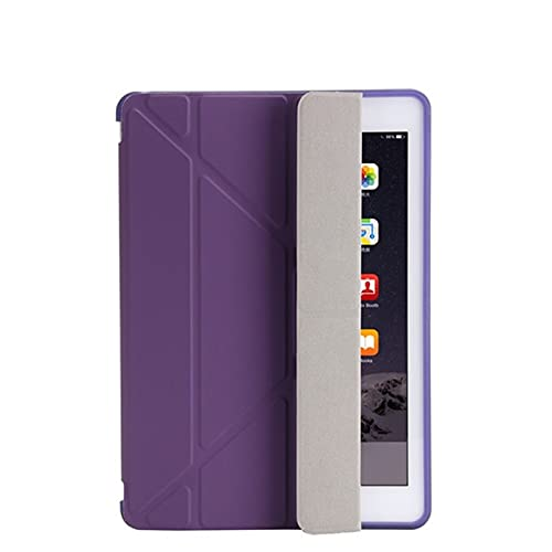 QiuKui Tab Funda para iPad 2/3/4 9.7 2018/2017 5 / 6th, Ultra Thin PU Cuero Suave Cubierta Inteligente para iPad Mini 1/2/3/4/5 7.9' (Color : Purple, Talla : Air1 Air2 9.7inch)