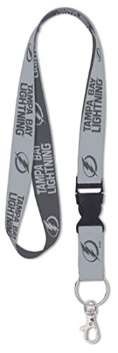 NHL Tampa Bay Lightning Premium Lanyard Key Chain, Charcoal Edition