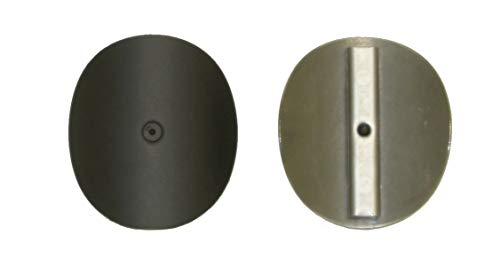 LANZZAS Rauchrohr Ofenrohr Kaminrohr Revisionsklappe Reinigungsklappe zum nachträglichen Einbau in vorhandene Rauchrohre lackiert grau schwarz unlackiert Ø 200 mm (schwarz)