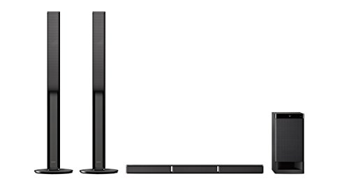 Sony HT-RT4 - Sistema Home Cinema 5.1 Soundbar + Subwoofer + 2 Speaker Tallboy posteriori, USB, NFC, Bluetooth, ClearAudio+, 600W, Nero