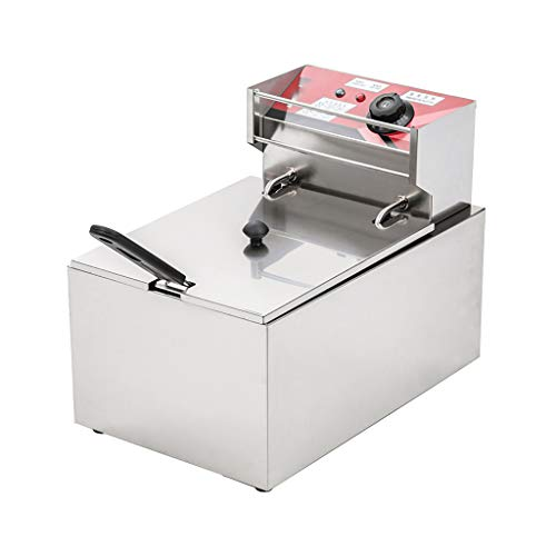 WYXR 8L 220V 2500W Thermostat 60~200℃, Home and Commercial Heavy Duty Deep Fryer, (43X28X34CM), Fat Chip Fryers Electric Pan,220v