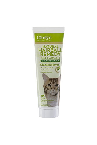 TOMLYN Laxatone Natural Chicken-Flavored Hairball Remedy Gel for Cats and Kittens, 4.25oz