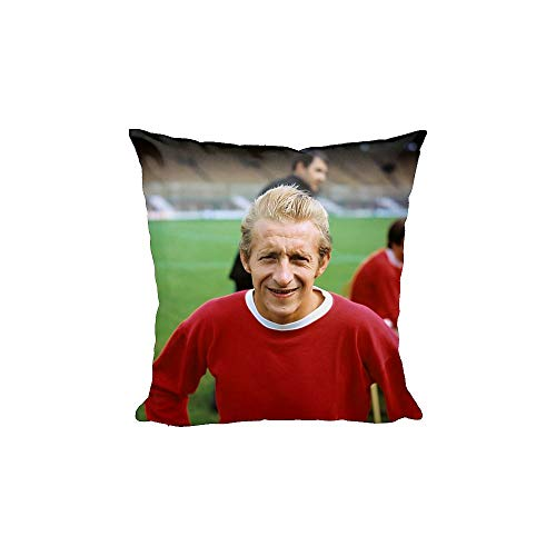 Media Storehouse 12x12 Cushion of Denis Law - Manchester United - Old Trafford (12182726)