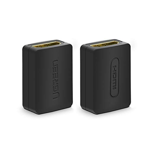 UGREEN HDMI Coupler 2 Pack 4K HDMI Adapter Female to Female HDMI Connector Support 3D 4K 1080P HDMI Extender for HDTV Roku TV Stick Chromecast Nintendo Switch Xbox One Playstation 4 PS 3 Laptop PC