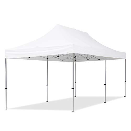 TOOLPORT PopUp Gazebo Aluminium 3x6m white Folding tent Party tent Market Shelter 100% waterproof roof