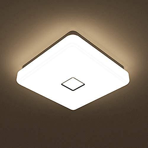 Waterdichte Super Heldere Vierkante Badkamer lamp Daglicht Wit Wandmontage Plafond lamp voor Woonkamer Slaapkamer Keuken@Warm Wit