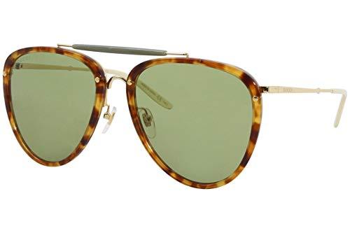 Gucci Sonnenbrillen (GG-0672-S 003) havana - gold - grün