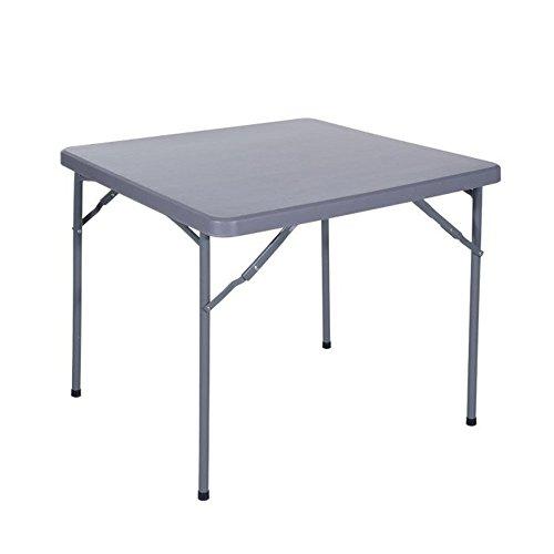 VERDELOOK Tavolo Quadrato Pieghevole in plastica HDPE, 86x86 cm Altezza 74 cm