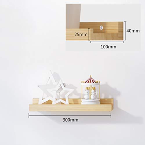 Zwevende planken, rustieke massief eiken Timber Block drijvende plank voor muur verborgen wandplank van hout decoratief hangend rek organizer boekenrek opslag afbeelding strik huis dek