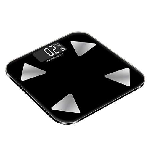 NMDCDH Intelligente Körper-Monitor-LED-Anzeigen-Skala, hohe Präzisions-Digital-Gewichts-Badezimmerwaage 28st / 180kg / 400lb Bandbreiten-ausgeglichenes Glas-Plattform-elektronische Skala