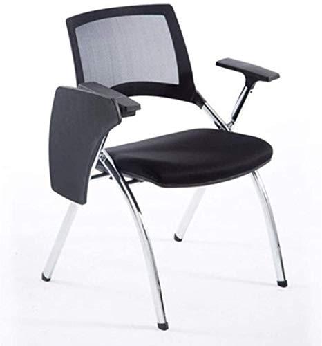 LIUBINGER Drehbarer Bürostuhl Arm Nesting Stuhl Folding Padded Büro Rezeption Stühle Faltbarer Stuhl, mit einem Multifunktions-Schreibens-Brett