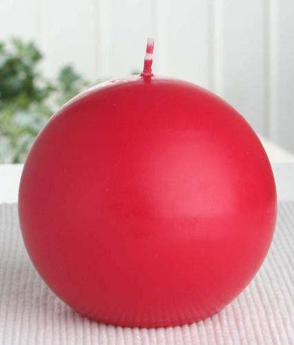 CandleCorner Kugelkerze 10 cm Ø, Rot-Rubinrot