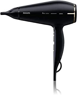 Philips Prestige Pro Hair Dryer. 2300W drying power. Powerful AC motor. Speed 170 km/h*. thin styling nozzles for perfect ...