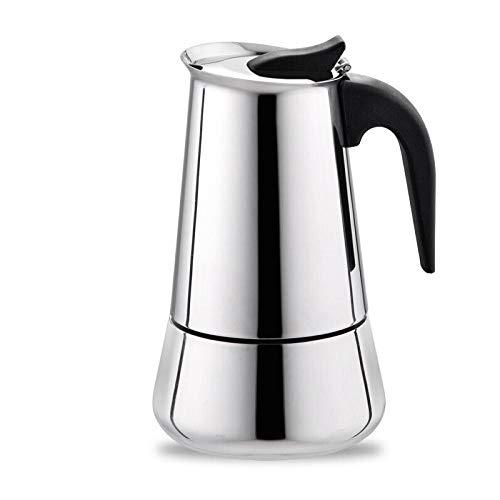 Yanxinenjoy Italian Mocha Pot, met de hand gewassen koffiepot, roestvrij staal mocha koffie pot