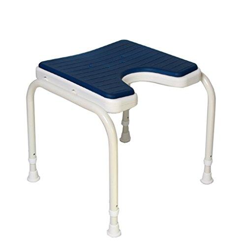 NYDZDM douche bank bad kruk 304 roestvrij staal stent douche stoel kruk voor ouderen gehandicapt-antislip matten douchestoel verstelbaar in 6 hoogte Heavy Duty, blauw