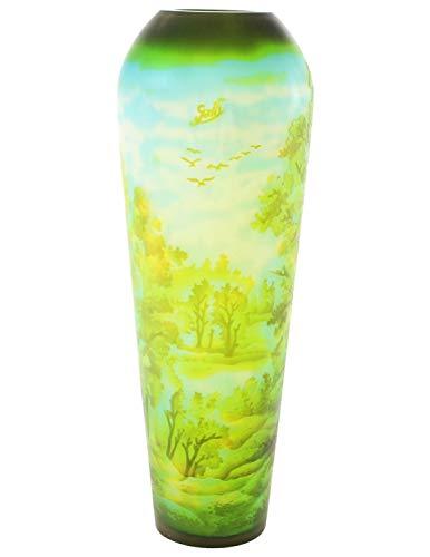 aubaho Vase Replika nach Galle Gallé Glasvase Glas Antik-Jugendstil-Stil Kopie c9