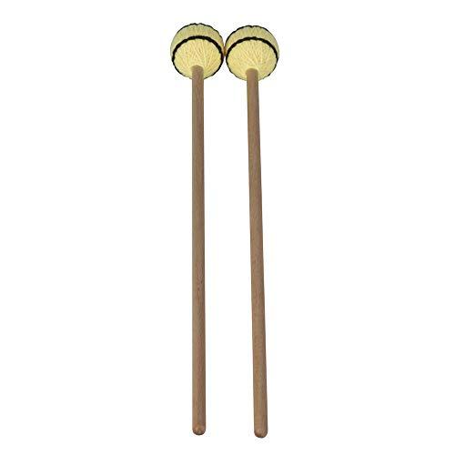 Muslady Schlägel Marimba Xylophon Glockensplel Stick mit Buche Griff Schlaginstrument Zubehör für Fachleute Amateure 1 Paar