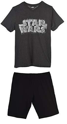 Star Wars Herren Kurz Pyjama Schlafanzug, dunkelgrau, s