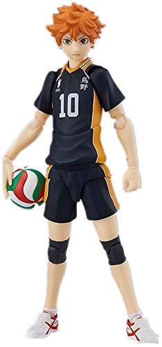 Kioiien 13cm Anime Figure Haikyuu Figma 358 Hinata Shoyo Volleyball Figures Characters Statue Figurine Anime Game PVC Model Collection Toys Gift Ornaments Handmade