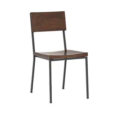 Chaise de salle à manger rétro en fer forgé, chaise de bureau, dossier, chaise de famille, chaise de réception