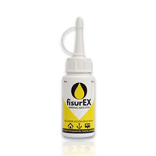 fisurEX Original Aqua Stop 60ml | Sellador antigoteras fisurEX permite impermeabilizar con mayor fácilidad. Permite sellar goteras dificiles si silicona no funciona.