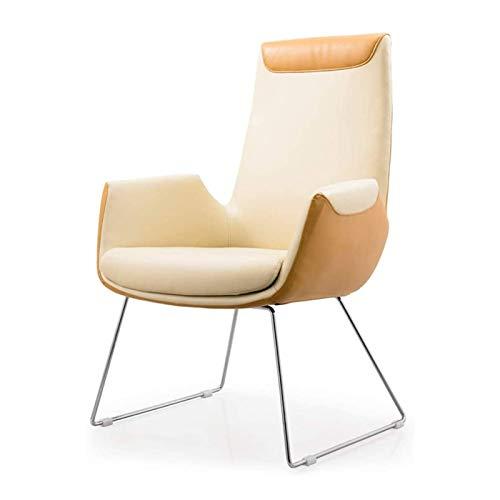 Silla de escritorio de oficina, sillas de oficina, sillas de dirección, sillas ejecutivas, silla de conferencia, silla de oficina, silla de moño, moderna y fija, diseño ergonómico duradero y estable