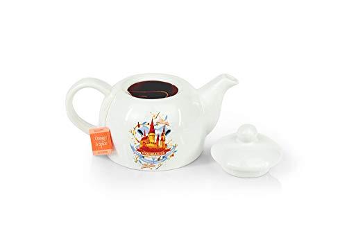Original Cute Harry Potter Hogwarts Mini Porcelain 5oz Teapot Whimsical Colorful Castle Artwork Glossy White Glazed Ceramic Unique Thoughtful Magical Gift Idea