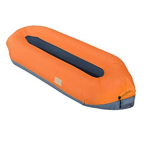 EKKONG Divano Gonfiabile, Divano ad Aria, Portatile Impermeabile Gonfiabile Lounger per Spiaggia, Campeggio, Viaggi, Piscina, alla deriva, Surf (Arancione)